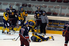 hockey injury Royalty Free Stock Photos