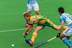 Hockey Internationaal Argentinië V Zuid-Afrika Stock Fotografie