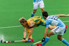 Hockey Internationaal Argentinië V Zuid-Afrika Stock Afbeeldingen