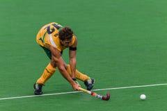 Hockey internationales Argentinien V Südafrika Stockbilder
