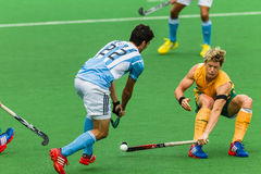 Hockey internationella Argentina V Sydafrika Arkivbild