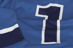 Hockey jersey in dark blue royalty free stock image