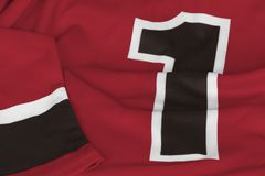 Hockey jersey dark red color stock photo