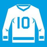 Hockey jersey icon white Royalty Free Stock Image