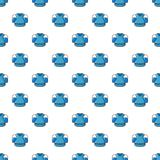 Hockey jersey pattern seamless. Hockey jersey pattern in cartoon style. Seamless pattern vector illustration Stock Photos