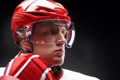Hockey-jugador foto de archivo