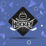 Hockey Label Royalty Free Stock Images