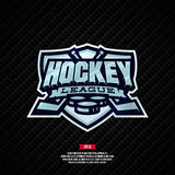 Hockey league logo. Modern professional hockey league template logo design stock illustration