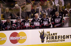 Hockey Legends and Celebrities play hockey Stock Photography