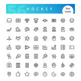 Hockey Line Icons Set Royalty Free Stock Image