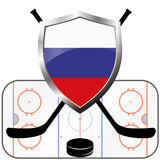 Hockey logo- canada vs russia Royalty Free Stock Image