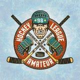 Hockey logo Royalty Free Stock Photography