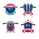 Hockey logo set. Sport identity,team,tournament Stock Photography