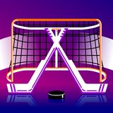 Hockey logo in vector Royalty Free Stock Photos