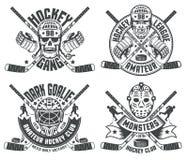 Hockey logos goalie masks Royalty Free Stock Images