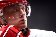 Hockey man Stock Image