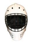 Hockey Mask. A white hockey mask on white background royalty free stock photography