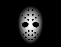Hockey mask. Isolated on black background Stock Photo