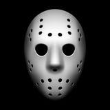 Hockey mask. Vectgor illustration on black Stock Photography