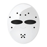 Hockey mask. Glossy illustration of a vintage hockey goalie mask Royalty Free Stock Image