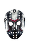 Hockey mask of serial killer isolated on white Royalty Free Stock Images