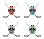 Hockey mask and stick Royalty Free Stock Photography