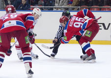 Hockey match Royalty Free Stock Images