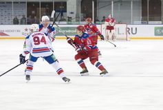 Hockey match CSKA-LEV PRAHA Stock Images