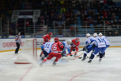 30/01/2015 hockey match between hockey clubs  Royalty Free Stock Photos
