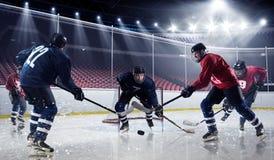 Hockey match at rink  . Mixed media Stock Photo