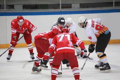 Hockey match Spartak-Severstal Stock Photography