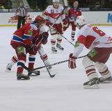 Hockey match Spartak vs CSKA Stock Photos