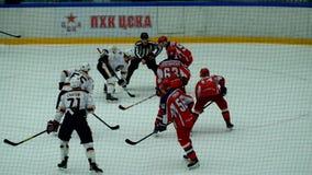 Hockey match in Vityaz Ice Palace stock video footage