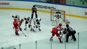 Hockey match in Vityaz Ice Palace stock video