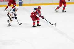 Hockey match in Vityaz Ice Palace Royalty Free Stock Images