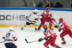Hockey match in Vityaz Ice Palace Royalty Free Stock Photography