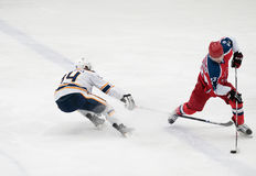 Hockey match in Vityaz Ice Palace Stock Photo