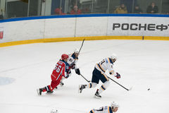 Hockey match in Vityaz Ice Palace Stock Photography