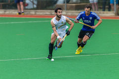 Hockey Mens Argentina Plays South Africa Stock Photography
