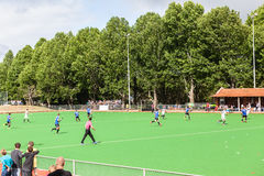 Hockey Mens Argentina Plays South Africa. Mens hockey game action at Kearsney College   astro field between Argentina plays South Africa Royalty Free Stock Image