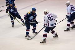 Hockey met de puck, Stock Foto