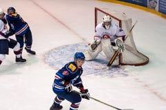 Hockey met de puck, Stock Foto's