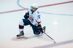 Hockey met de puck Royalty-vrije Stock Fotografie