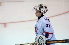Hockey met de puck Royalty-vrije Stock Afbeeldingen