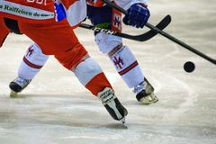 Hockey Milano Rossoblu Royalty Free Stock Photos