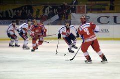 Hockey Milano Rossoblu Royalty Free Stock Photography