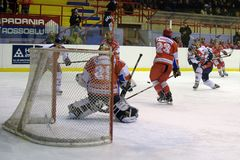 Hockey Milano Rossoblu Royalty Free Stock Image