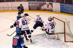 Hockey mit dem Kobold, Stockfotos