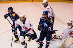 Hockey mit dem Kobold Lizenzfreies Stockbild