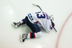 Hockey mit dem Kobold Stockfotografie